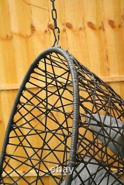 2021 Hanging Rattan Swing Patio Garden Chair Weave Egg with Cushion In Outdoor