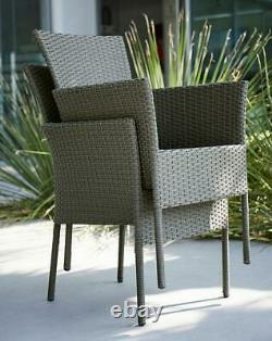 Almeria Rattan 6 Seater Garden Dining Set Outdoor Patio Table Charis Cushions