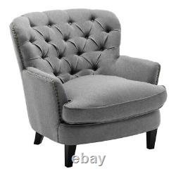 Chesterfield Armchair Deep Button Back Fireside Sofa Cushioned Tub Chair Bedroom