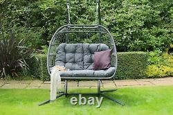 Cocoon Egg Chair Swing Folding Single or Double Garden Furniture Holly Eleanor