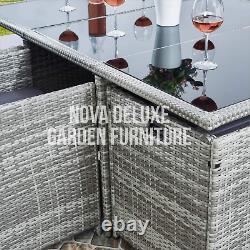 Cube Rattan Garden Furniture Set Chair Sofa Table Outdoor Patio Wicker 10 Seater