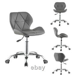 Cushioned Computer PC Desk Office 360° Swivel Chair Chrome Legs Adjustable Lift