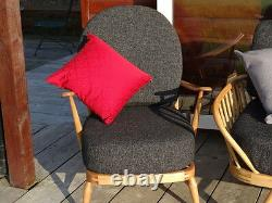 Cushions & Covers Only. Ercol 203 Chair. Charcoal Grey Stitch Camira FL768