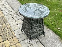 Dark Grey Mix Rattan Garden Furniture Dining Sets Outdoor Patio