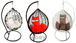 Egg chair Swing chair Garden Patio Conservatory Rattan effect with cushion stand