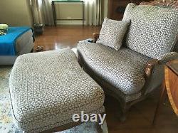 Ethan Allen Versailles Chair Ottoman Custom Contemporary French Hardwood