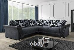 Farrow Corner Large Sofa 3 2 1 Seater Swivel Chair Grey Black Beige Brown