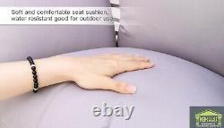 Foldable Hanging Egg Chair Swing Rattan Headrest Cushion Stand Garden Furniture