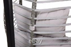 Folding Hanging Egg Chair Swing Rattan Headrest Cushion Stand Flame retardant