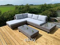 GSD Corner Sofa Sunlounger Rattan Wicker Luxury Garden Set 5 Year Warranty