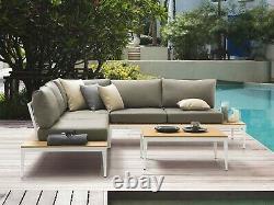 Garden Corner Sofa Set 5 Seater with Table