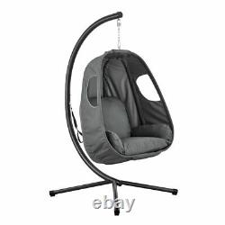 Garden Hanging Egg Swing Chair Relaxing Patio Hammock Cushions Foldable Rope UK