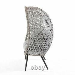 Garden Wicker & Rattan Cocoon Double Pod Cuddle Chair