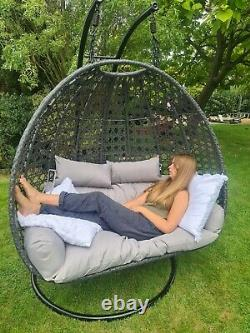 Hanging Double Egg Chairs extra wide! New! 3x different colours