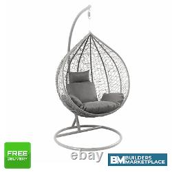 Hanging Egg Chair grey swing egg chair single egg chair garden