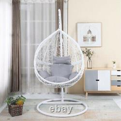 Harrier Hanging Egg Chairs Rattan Swing Garden Seats RANGE OF COLOURS/SIZES
