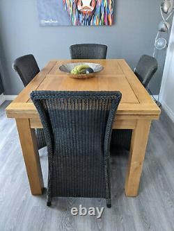 Havana Lloyd Loom Neptune Dining Chairs x 6 in Slate Grey