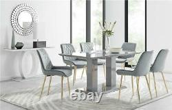 Imperia 6 Grey Dining Table and 6 Pesaro Chairs
