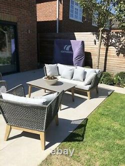 La Redoute Nordic Grey Rope Garden Sofa & 2 X armchairs Still Online RRP £2399