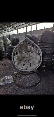 Luxury Rattan Swing Patio Garden Egg Chair & Cushion Taking Pre Orders For June