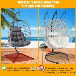 Meigar Rattan Swing Egg Chair Hangging Chair Single withCushion Patio Garden Home