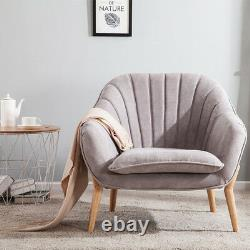 Modern Fabric Cushion Chair Occasional Accent Tub Armchair Living Room Lounge UK