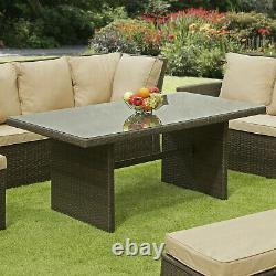 Nevada 10 Seat Rattan Wicker Luxury Corner Sofa Set Chair Garden Patio Furniture