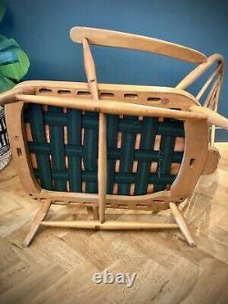 One Vintage Retro Original Blonde Ercol 203 Windsor Armchair & Cushions UKDel