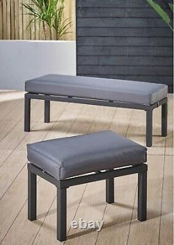 Outdoor Large Corner Sofa Seat Garden Dining Furniture Patio Chair Set