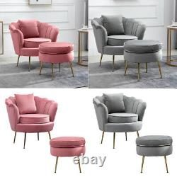 Oyster Accent Armchair Sofa Chair Footstool Cushion Available Lounge Living Room