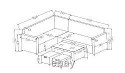 PRE ORDER FOR APRIL 2021- Rattan Garden Furniture Corner Sofa Coffee Table Set