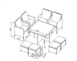 PRE ORDER FOR APRIL 2021- Rattan Garden Furniture Cube Dining Set
