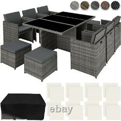 Rattan Aluminium Garden Furniture Chairs Set Poly Rattan Wicker Seats Table New