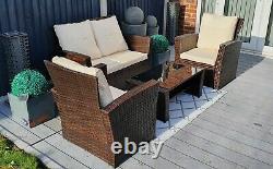 Rattan Furniture, Patio, Garden, 4 Seater, Ratten, Very High Spec UK STOCK