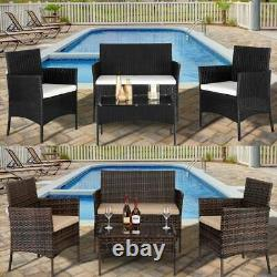 Rattan Garden Furniture 4 Seater Wicker Sofa Chair Clearance Price Outdoor Patio