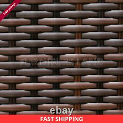 Rattan Garden Furniture 6 Piece Patio Set Table Chairs 9 Seater MIX Grey Brown