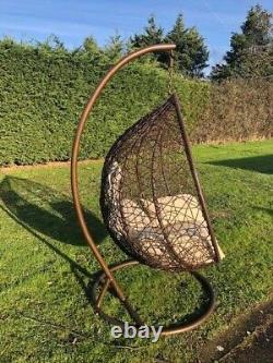 Rattan Swing Patio Garden Weave Hanging Egg Chair Frame Cushion In or Outdoor