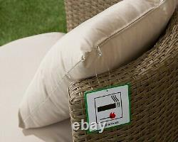 Rattan Wicker Bistro Bottle Shape Patio Set, Aluminium, Back Cushions, 3 Colours