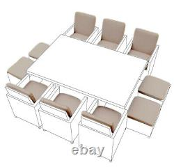 Stone 16 Piece Cushion Set for 10 Seater Rattan Garden Furniture Dining Cube