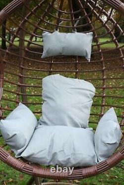 Swing Hanging Egg Chair with Cushion Patio Garden Outdoor PE Rattan Furniture