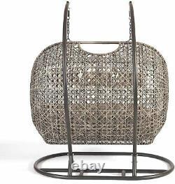 Triple Cocoon Chair Swing Wicker Rattan Hanging Garden Furniture Cushion
