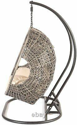 Triple Cocoon Egg Chair Rattan Wicker Garden Hammock Swing Fast Free Delivery
