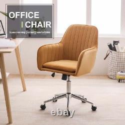 Velvet Home Office Chair Computer Desk Chair Swivel Ergonomic Adjustable Back UK