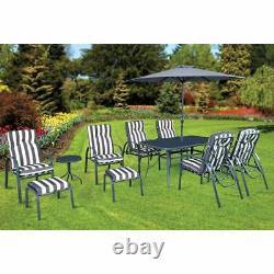 Windsor 11 Piece Table & Chairs Footstool Patio Garden BBQ Outdoor Furniture Set