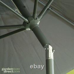 11 Pièces Ensemble De Meubles De Jardin Chaises De Table Foot Stools & Parasol Matching Grey