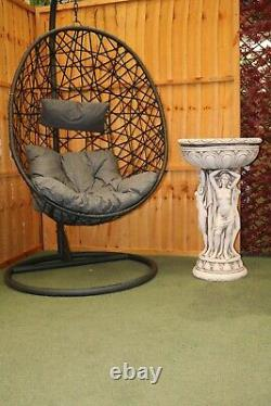 2021 Hanging Rattan Swing Patio Garden Chair Weave Egg With Cushion In Outdoor (en Anglais Seulement)