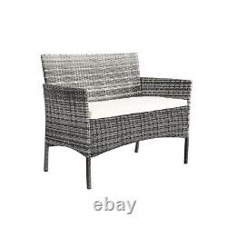 4pcs/set Rattan Table+chair Set Garden Furniture Set Canapé Patio Outdoor Hotel