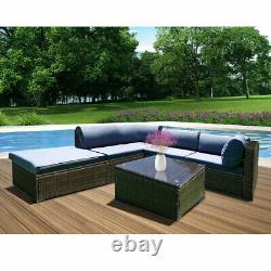 5 Seater Rattan Garden Corner Sofa Chaise De Table Meubles Ensemble Patio Conservatory