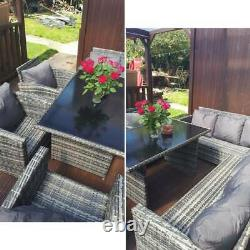 6pcs Patio Rattan Seating Garden Furniture Set Table Chairs With Cushions 9 Seater 6pcs Patio Rattan Seating Garden Furniture Set Table Chairs With Cushions 9 Seater 6pcs Patio Rattan Seating Garden Furniture Set Table Chairs With Cushions 9 Seater 6