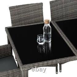 8 Seater Table En Aluminium Rattan Garden Chaises De Meubles Set Wicker D'extérieur Nouveau
